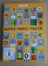SUPER MARIO MAKER - Nintendo Wii U Game + Manual