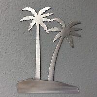 Palm Trees Metal Wall Art Skilwerx 12 X 9 Nautical