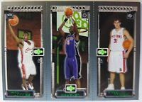 2003-04 Topps Rookie Matrix JBM Darko Milicic Chris Bosh LeBron James Rookie RC