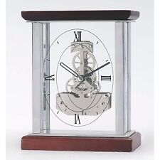 Petits rouges bois de cerisier squelette quartz horloge mantel SKC07/s