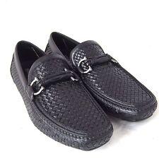K-SF1195 New Salvatore Ferragamo Round Nero Calf Black Loafer Shoes Size US 8EEE