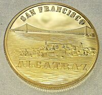 Golden Gate Bridge Gold Coin San Francisco Alcatraz Prison Americana Bay Medal