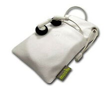 mini iPouch-WHT: White Small Pouch case for MP3 Players or small gadgets