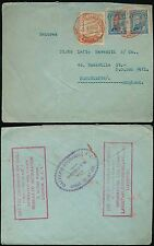 COLOMBIA 1923 BOXED LANGSTAFF LIVERPOOL+ GB INFO BUREAU...RED AIRMAIL.OLIVERO