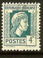 "FRANCE TIMBRE STAMP YVERT N° 643 "" MARIANNE D'ALGER 4F "" OBLITERE TB"