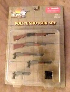 """21st Century Ultimate Soldier Police Shotgun Set 12"""" Action Figure Weapons New"""