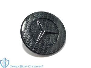 Mercedes CL E GLK ML SL-Class Black Carbon Fiber Hood Star Emblem OEM Logo Badge