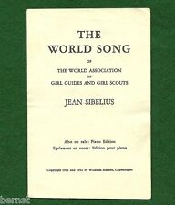 VINTAGE 1952 GIRL SCOUT SMALL SHEET MUSIC - THE WORLD SONG - FREE SHIPPING
