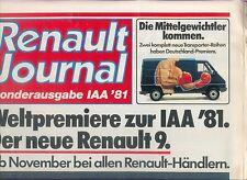 Renault Journal IAA 1981 5 Turbo Fuego Alpine A 310 Auto PKWs Autoprospekt