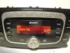 FORD 6000 FOCUS MONDEO GALAXY SMAX AUX CD RADIO UNIT +CODE 2007 to 2011 WARRANTY