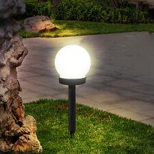 Solar Round Ball Lights Garden Path Outdoor Ground Plug Lamp Landscape Light