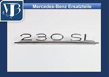 Mercedes-Benz W113 Pagode 230SL Schriftzug Typenzeichen an Heckdeckel.
