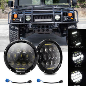 "For Hummer H1 H2 Pair 7"" Inch 280W Round LED Headlight Sealed Beam Lamp H4-H13"