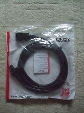 Job Lot 4 x BNIP Male IEC C14 Kettle - Female IEC C5 Clover Leaf Laptop Power 3m