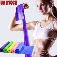 Elastic Yoga Pilates Stretch Resistance 1.5m Long Exercise Fitness Band Belt US