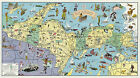 Pictorial Map Land of Hiawatha Michigan's Upper Peninsula Wall Art Poster Decor