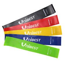 Unibest Fitnessbänder 5er Set Gymnastikbänder aus Naturlatex in 5 Stärken JL1080