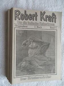 ND Robert Kraft 9 Hefte Um d indische Kaiserkrone Originaltext 2. Buch Band 4-12