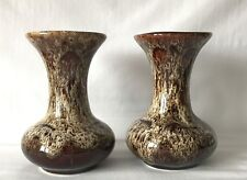 Vintage Pair of Matching Fosters Pottery Bulbous Base Vases