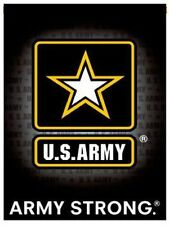 ARMY STRONG Sublimation Garden Flag Door Window Wall hanging Banner 13x18.5