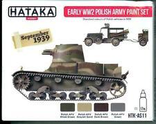 Hataka Hobby Paints EARLY WORLD WAR II POLISH ARMY COLORS Acrylic Paint Set