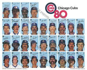 1980 CHICAGO CUBS BASEBALL TEAM 8X10 PHOTO