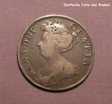 1707 QUEEN ANNE SILVER HALFCROWN - SEPTIMO