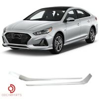 Fits Hyundai Sonata 2018 2019 Front Bumper Lower Fog Trim Chrome Molding Set