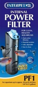 INTERPET INTERNAL POWER FILTER PF1 FOR AQUARIUMS UP TO 68 Litres 0755349022014