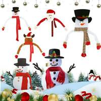 Snowman Christmas Tree Hat Topper Ornaments Outdoor Home Xmas Gift Decorations