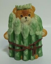 Enesco Lucy & Me Teddy Bear Vegetable Asparagus Lucy Rigg 1988 Korea