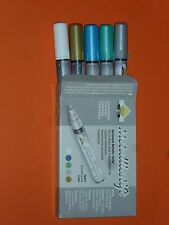 assortiment de 5 crayons/feutre de peinture métallique à base d'eau (pointe:5mm)