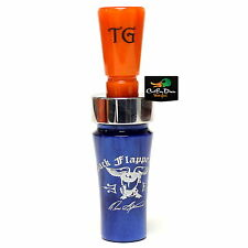 Tim Grounds Back Flapper Plus Mallard Duck Call Tennessee Crush Electric Blue