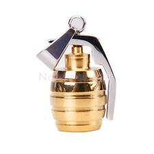 Gold Tone Cool Mens Stainless Steel Grenade Charm Pendant Necklace Chain Gift