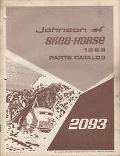 1969 JOHNSON SKEE-HORSE 2093 SNOWMOBILE PARTS MANUAL