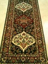 Hand Knotted Hallway Rug Runner Rich wool pile 8 feet long