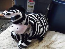 Adorable black & white Zebra plush  pillow pet -