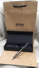 More details for hugo boss black fountain cartridge pen boxed gift bag new genuine