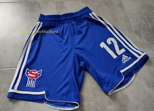 FAROE ISLAND NATIONAL TEAM 2012 2014 #12 SHORTS FOOTBALL SOCCER PLAYER ISSUE S