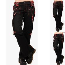 UK Womens Gothic Steam Punk Leggings Casual Rock Skinny Halloween Pants Trousers