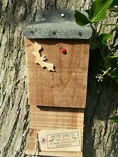BAT BOX  NESTING  BOX / HOUSE,  QUALITY HANDMADE BATBOX WITH FELT ROOF  ^●^  ^●^