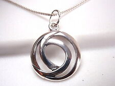 Double Circle Pendant 925 Sterling Silver Corona Sun Jewelry round