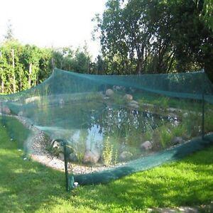 Teichnetz Laubnetze Reiherschutz Laubschutznetz incl. Befestigungshäken 3 Größen