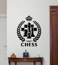 Chess Wall Decal Chessboard Poster Sports Vinyl Sticker Gym Decor Mural 225hor