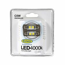 2x Ring C5W (239) 12v 4000K Cool white LED Light Bulbs - RW2394LED