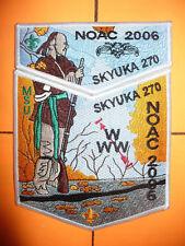 OA Skyuka Lodge 270,2006 NOAC,Indian W/ Rifle 2 Part Set,WHT,Palmetto Council,SC