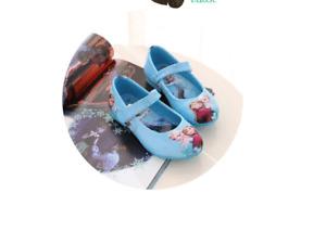 Frozen Elsa Anna Girls Ballet Mary Jane Ballerina shoes in blue or red