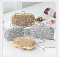 NEW GOLD SILVER DIAMANTÉ STONE DIAMOND SHINE RHINESTONE BRIDAL RING CLUTCH Bag