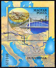 HUNGARY MAGYAR 1985 Danube Bridges Souvenir Sheet MNH - FREE SHIPPING