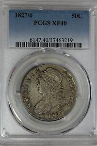 1827/6   PCGS XF40  1800's Capped Bust Half Dollar, Bust